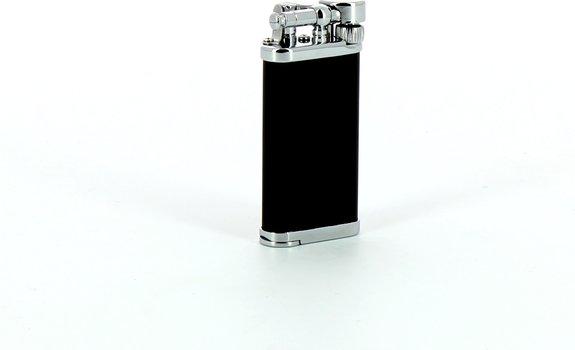 Зажигалка для трубки IM Corona Old Boy, хром/черный