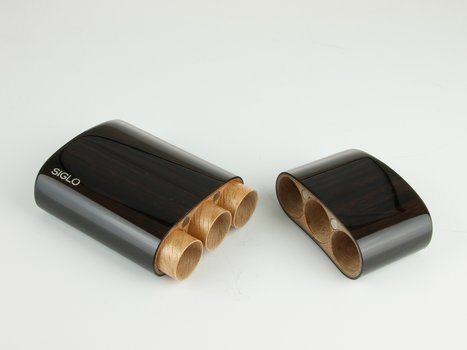 Siglo Футляр из черного дерева, для 3 сигар Robusto