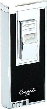 Реактивная зажигалка для сигар Caseti, хром/черный