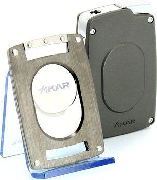 Набор: каттер и зажигалка Xikar Ultra slim, бронза