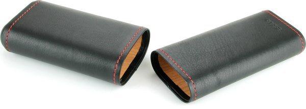 Siglo Черный кожаный чехол с красным швом