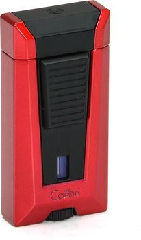 Colibri Stealth 3 зажжигалка, красный цвет с металлическим оттенком