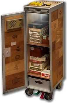 Сигарный шкаф-тележка adorini