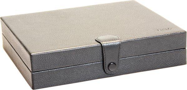Портативный кожаный хьюмидор Credo, цвет черный