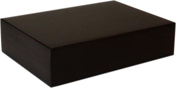 Хьюмидор на 20 сигар, бамбук, цвет черный, матовый