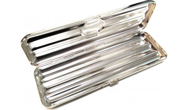 Футляр на 3 сигары Corona, стерлинговое серебро