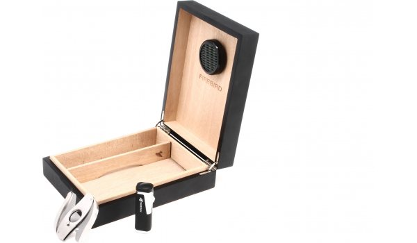 Colibri Firebird  - для 20 сигар - черный/матовый