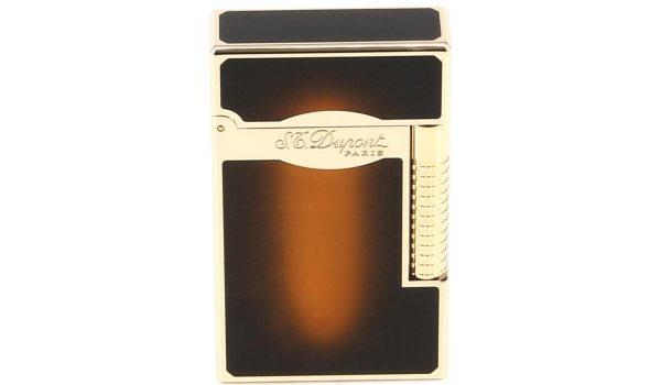 """ST Dupont Line 2 Le Grand зажигалка, коричневый лак """"солнечная вспышка""""/золотая"""