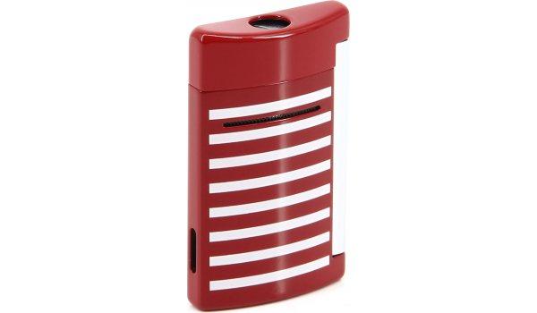 ST Dupont Minijet 10107 - красно белые красные полосы