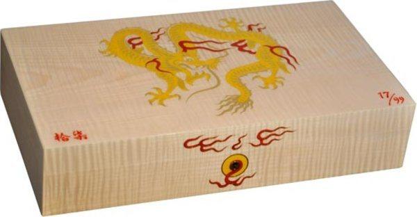 Эксклюзивный хьюмидор Elie Bleu Golden Dragon, натуральный платан