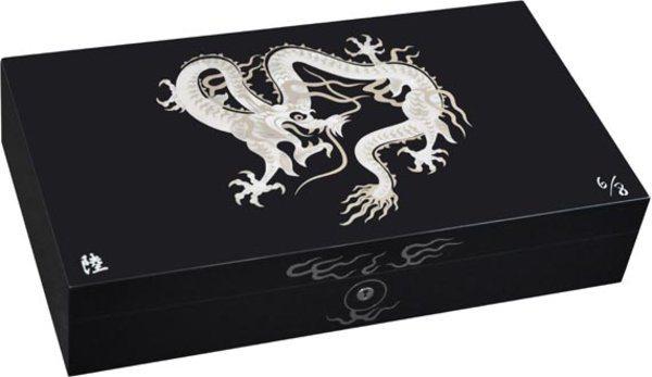 Эксклюзивный хьюмидор Elie Bleu Mother-of-Pearl Dragon, цвет черный