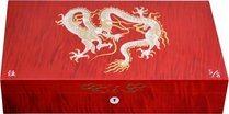 Эксклюзивный хьюмидор Elie Bleu Mother-of-Pearl Dragon, цвет красный