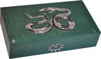 Эксклюзивный хьюмидор Elie Bleu Mother-of-Pearl Snake, цвет зеленый (от 1 до 8)