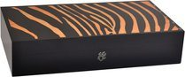 Хьюмидор Elie Bleu Safari Zebra Marquetry на 110 сигар, цвет оранжевый