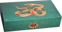 Эксклюзивный хьюмидор Elie Bleu Sycamore Marquetry Snake, цвет зеленый (от 1 до 88)