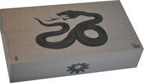 Эксклюзивный хьюмидор Elie Bleu Sycamore Marquetry Snake, цвет серый