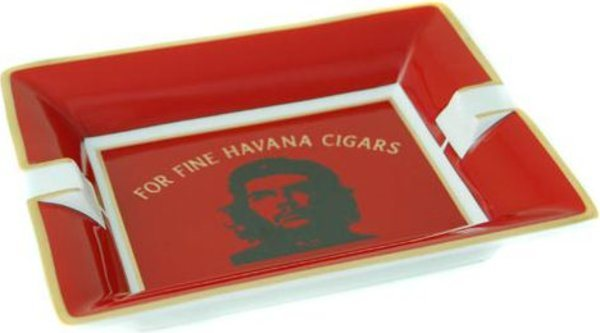 "Porcelain ashtray ""CHE"" red"