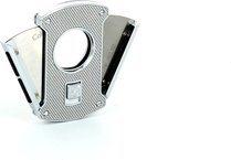 Резак для сигар Colibri Slice, серебро/уголь, 24мм