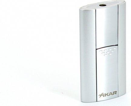 Зажигалка с одиночным пламенем Xikar Flash, серебро