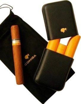 Кожаный футляр Cohiba для 3 сигар