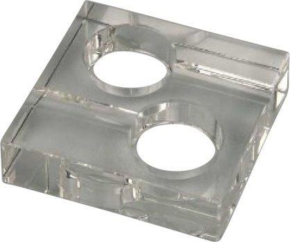 Квадратная пепельница из стекла для 2 сигар
